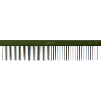 "Aluminum Grooming Comb 7.5"" - Green"