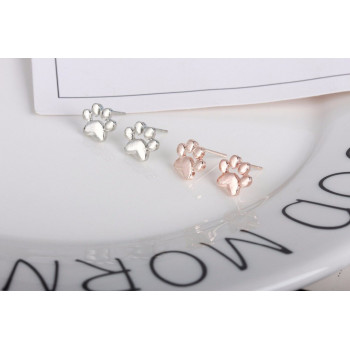 Paw Print studs Rose Gold or Silver
