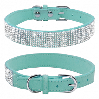 suede bling collar