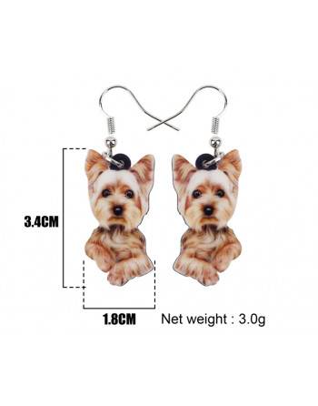 Yorkie Drop earings