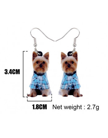 Fun Yorkie drop Earings